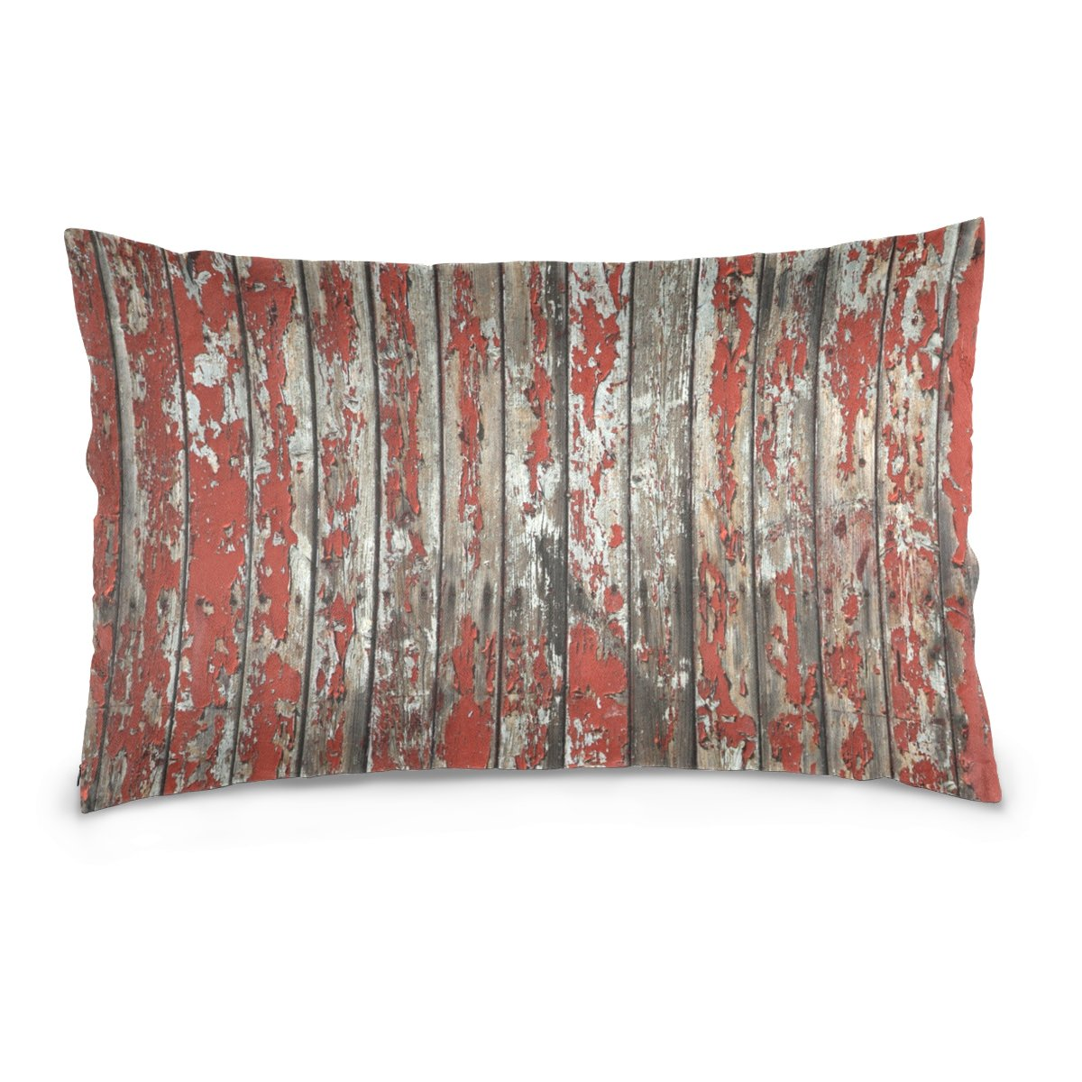 LEISISI Oil Paint Rustic Old Barn Wood pillowcase 20x26 inch two sides custom zippered pillow cover cases