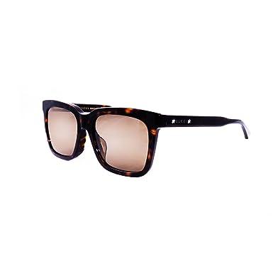 Amazon.com: Gucci gg0267sa anteojos de sol Havana W/marrón ...