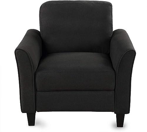 Living Room Furniture Armrest Single Sofa Black