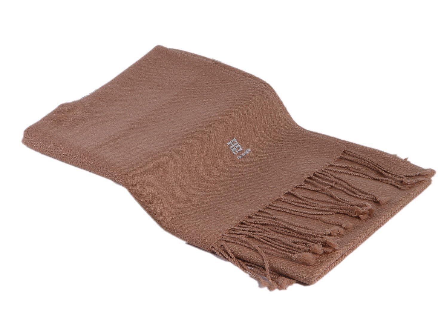 TALLA 230 cm x 80 cm, chaise franges, 130g. Prettystern- pashmina chal de 230cm de largo 100% hilado de lanas 80 monocromas franjas de color liso - selección de color