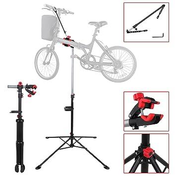 Amazon.com : Portable Home Steel Bike Repair Stand Adjustable Height ...