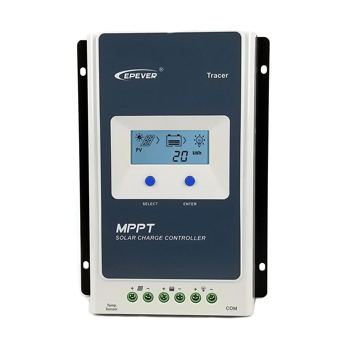 Qaurora MPPT Solar Charge Controller Tracer A Series 10A/20A/30A/40A with 12V/24V DC Automatically Identifying System Voltage (30A) EPEVER