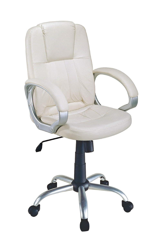 EUROSILLA Standford Chefsessel Schreibtisch, 112 x 55 x 60 cm, weiß