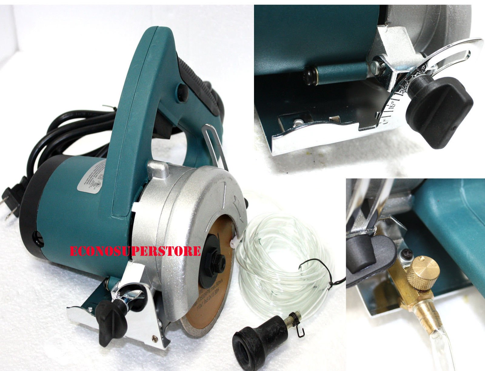 4-1/2'' WET DRY ELECTRIC MARBLE TILE BRICK CUTTER SAW 1200W w/Water hose