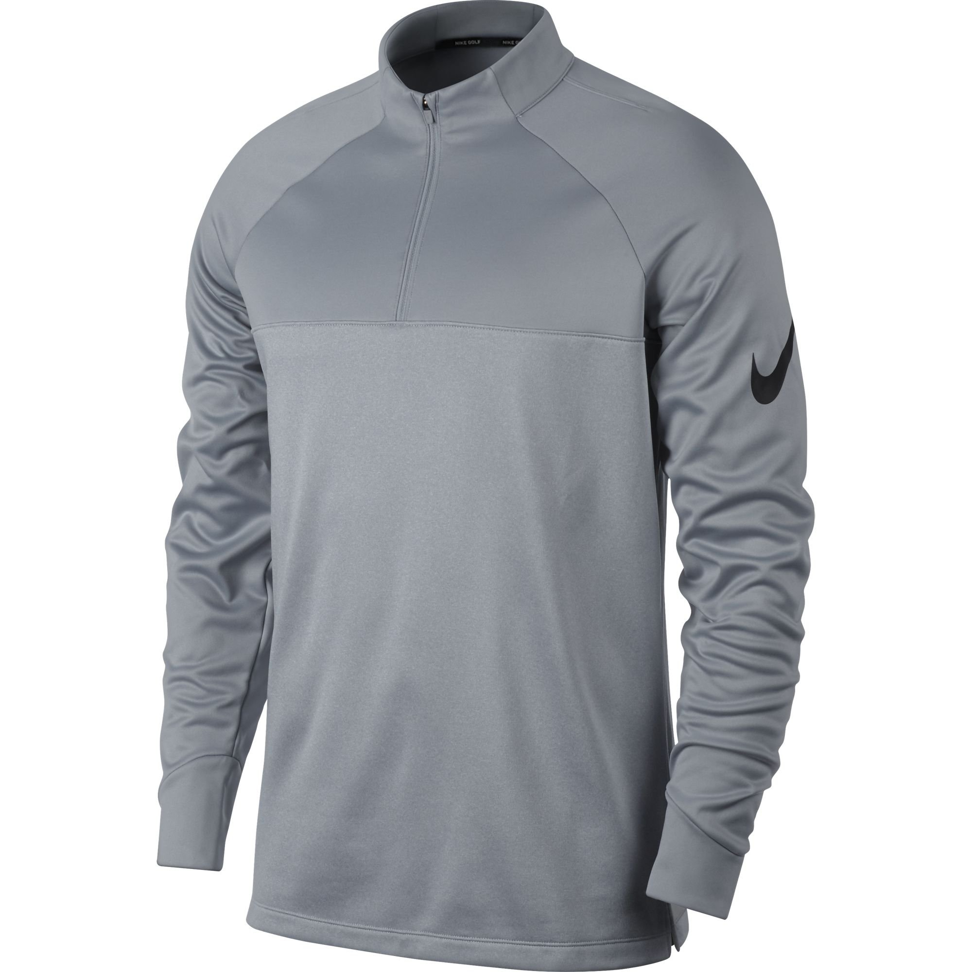 Nike Therma Fit Top Half Zip Core Golf Pullover 2017 Wolf Gray/Dark Gray/Heather/Black X-Large