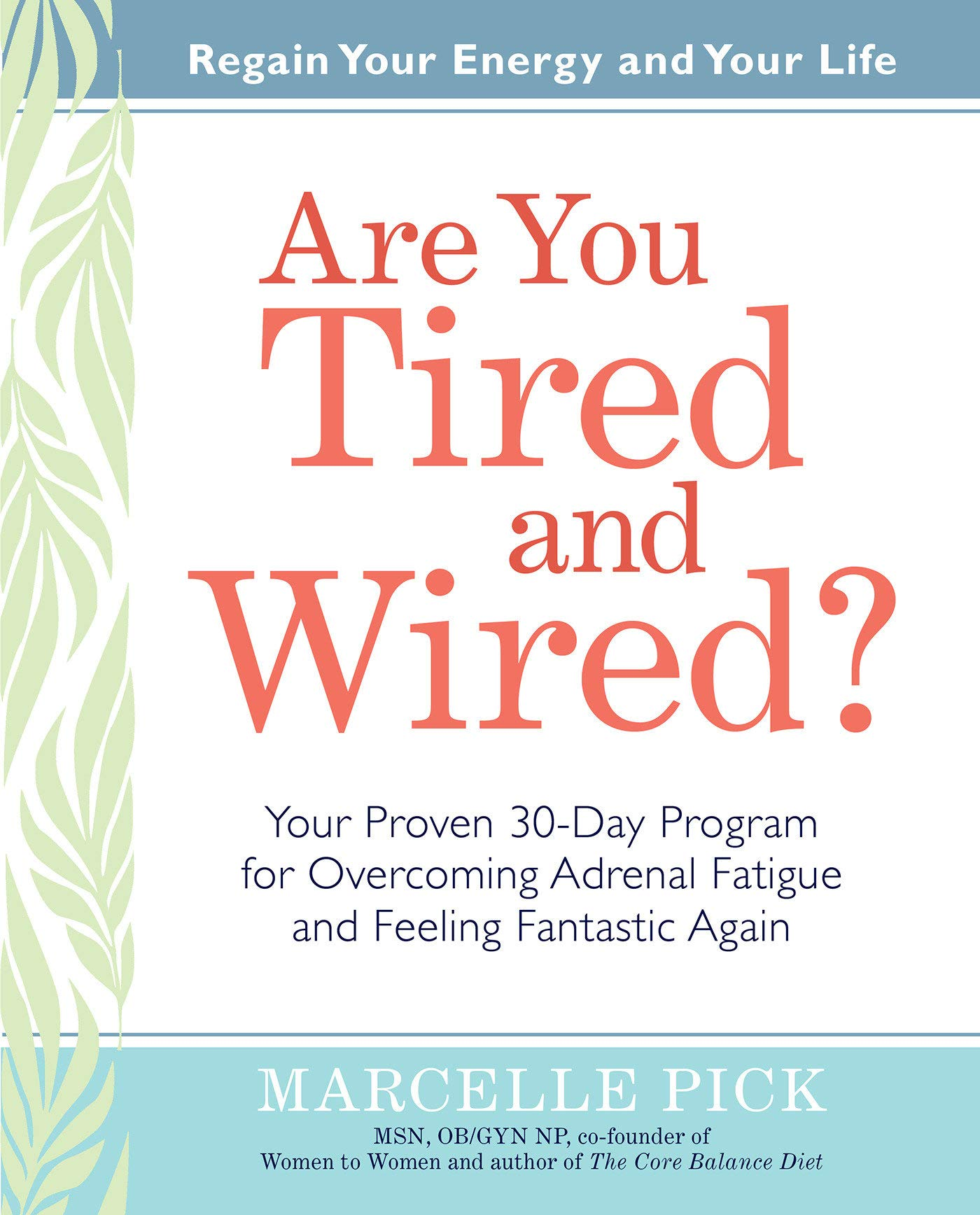 Are You Tired and Wired?: Your Proven 30-Day Program for Overcoming ...