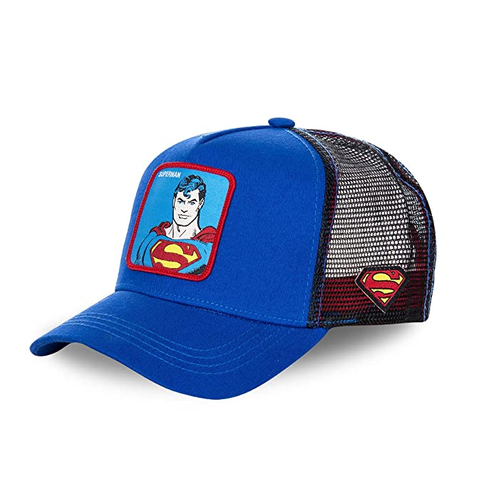 CAPSLAB Gorra de béisbol para Hombre DC Comics Batman Superman Flash (Superman Azul): Amazon.es: Ropa y accesorios