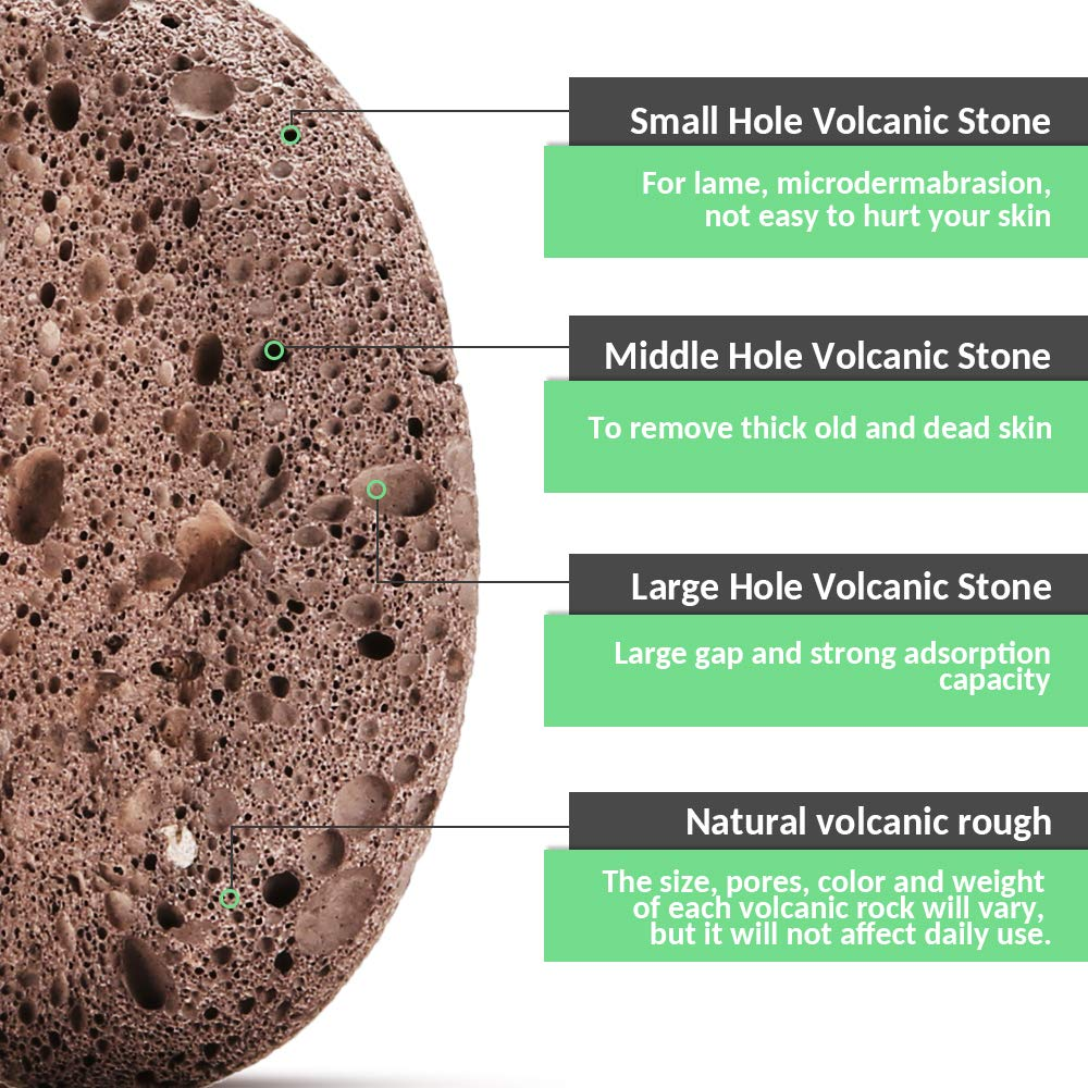 Natural Pumice Stone Foot Scrubber - Earth Volcanic Lava Pumice Stone Foot Exfoliater Callus Remover Exfoliating Rock for Feet Heel Hand Body Dead Skin Removal Home Pedicure Exfoliation Tool 2 in 1 by INCOK (Image #8)