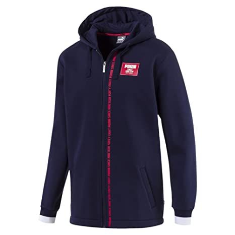 1446810721ce Puma Men s Rebel Block Fz Hoodie Fl Sweatshirt  Amazon.co.uk  Sports ...