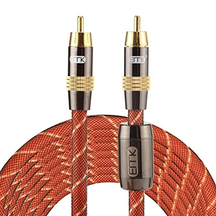 Audio Cables, TZ/A 5m OD8.0mm Gold Plated Metal Head RCA to