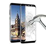Galaxy S8 Screen Protector , ikalula Galaxy S8 Tempered Glass [Full Coverage] 1 Pack 9H Hardness Explosion-proof Anti-Scratch Ultra Clear Film Guard Cover For Samsung Galaxy S8 - black