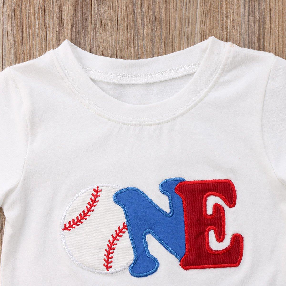 Amazon Biayxms Toddler Little Kids Baby Boy Short Sleeve First 2nd Birthday Baseball Shirts Clothing