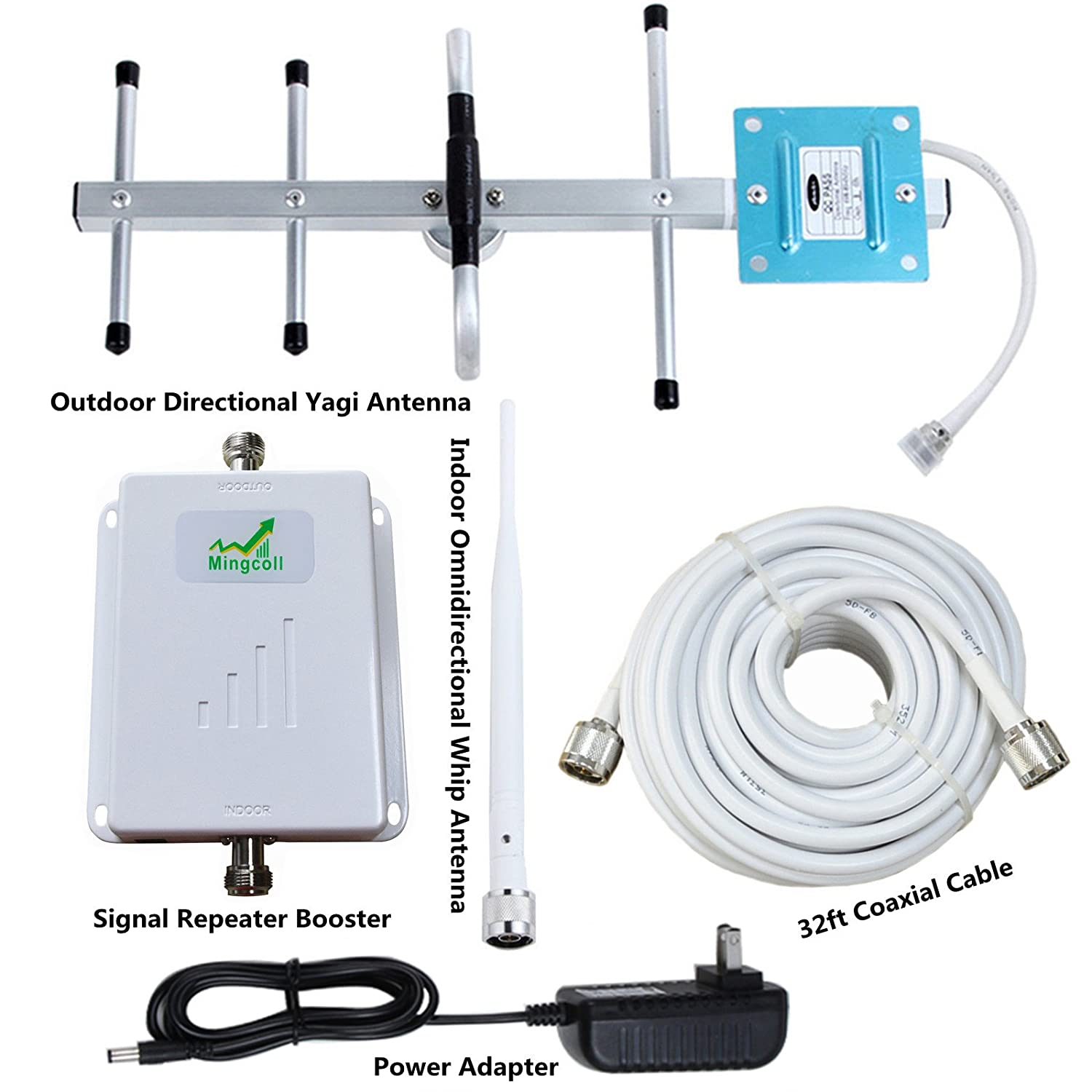 Amazon.com: Mingcoll ATT Cell Mobile Phone Signal Booster 700MHz Band 12/17 Cell Signal Amplifier Kit for Home (XWA70-83G): Cell Phones & Accessories