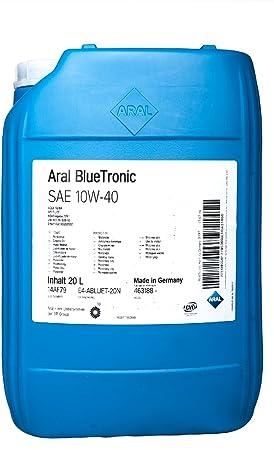Aral Bluetronics 10w 40 Engine Oil 20 Litres Auto