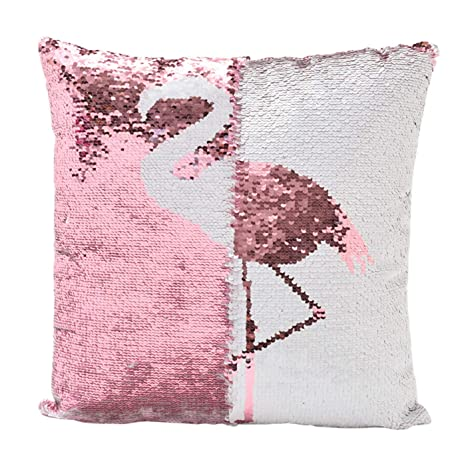 Amazon.com: Funda de almohada reversible con lentejuelas ...