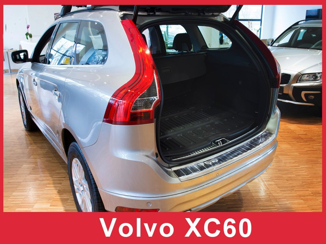 2014-2017 Volvo XC60- Brushed Stainless Steel Rear Bumper Protector