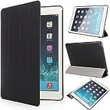 iHarbort® Apple iPad Air 2 Case étui Housse - Ultra Slim étui Housse Cuir Coque pour Apple iPad Air 2 (iPad 6 génération) Smart Cover Case housse Pochette Stand, avec Sleep / Wake Up fonction noir
