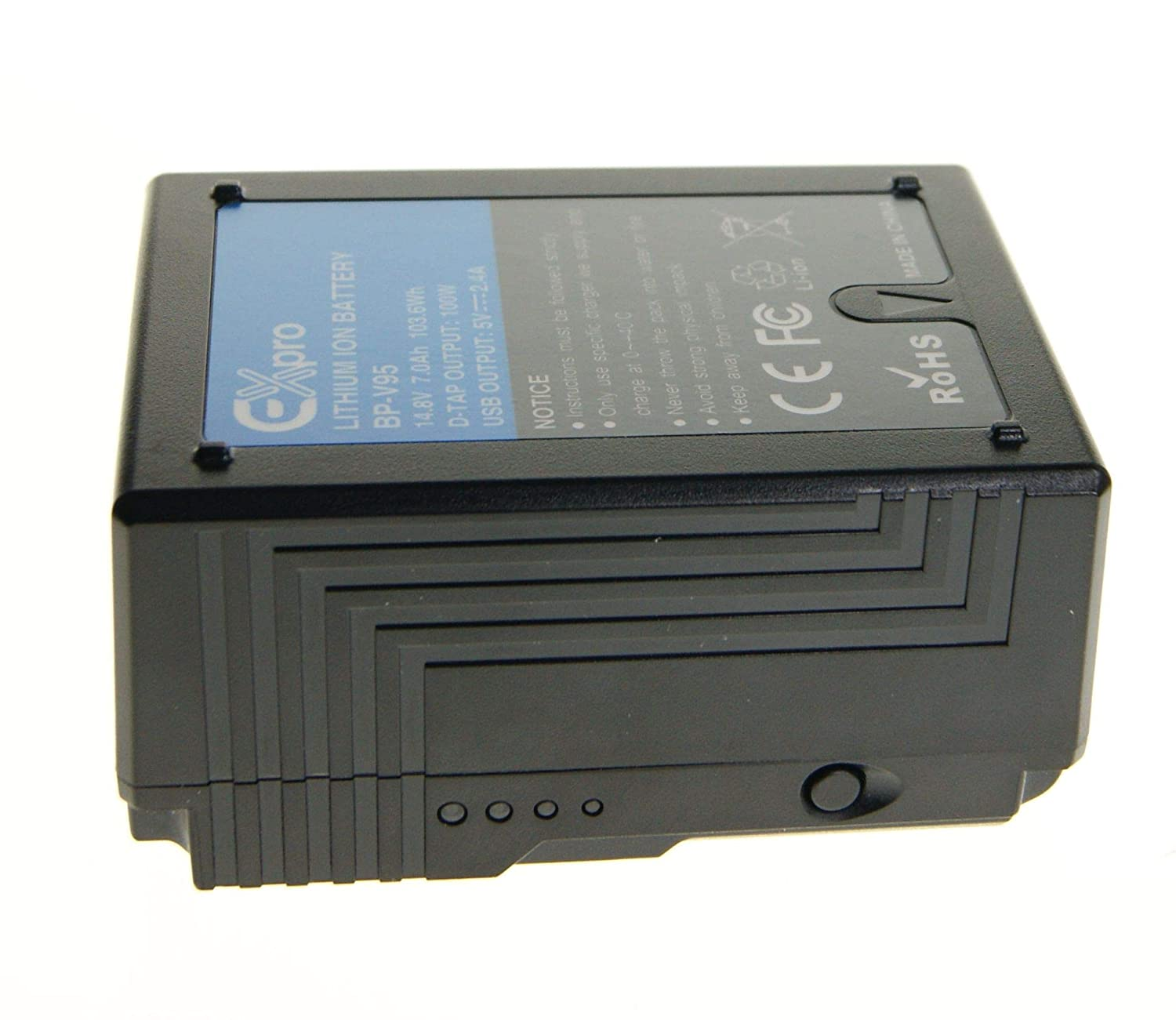 Ex-Pro BP-V95 BP-150W V-Lock V-Mount Rechargeable 7.0Ah 103Wh Li-ion Battery UK