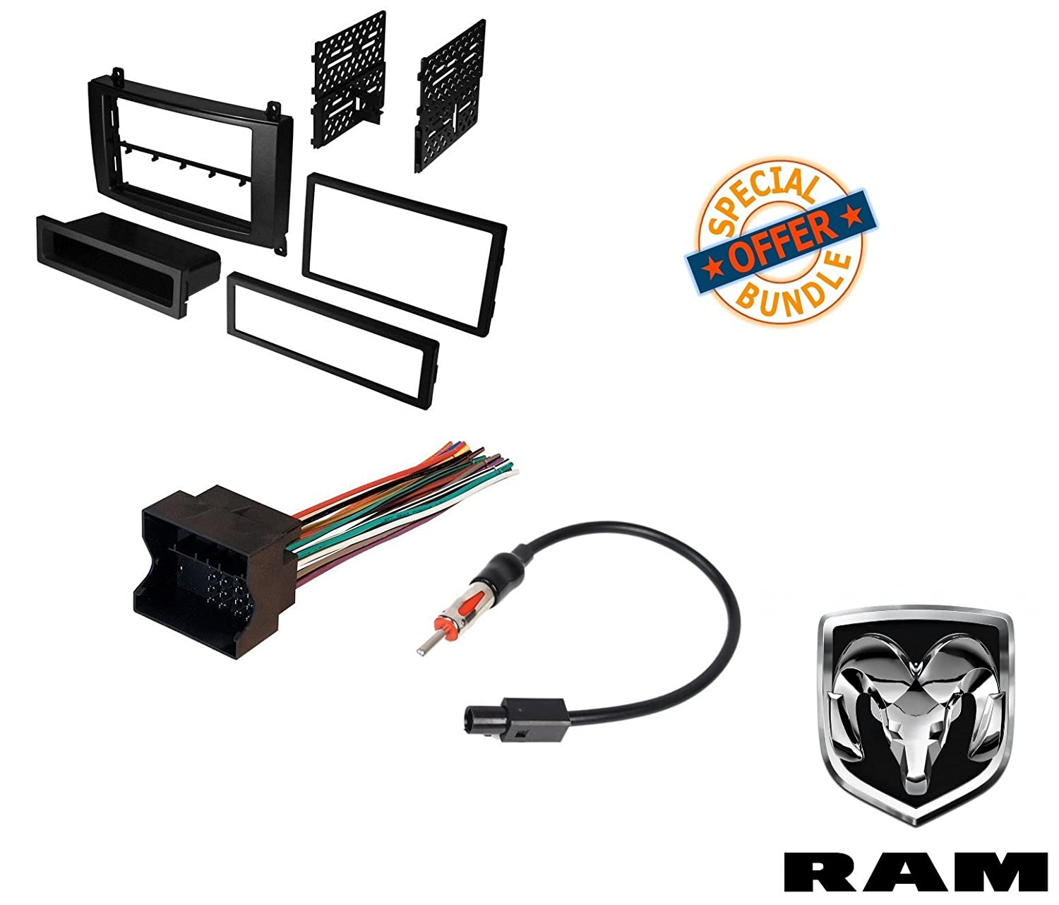 Amazon.com: Dodge Sprinter Van Radio Stereo Dash Mounting Install Kit+Wire  Harness+Adapter: Car Electronics