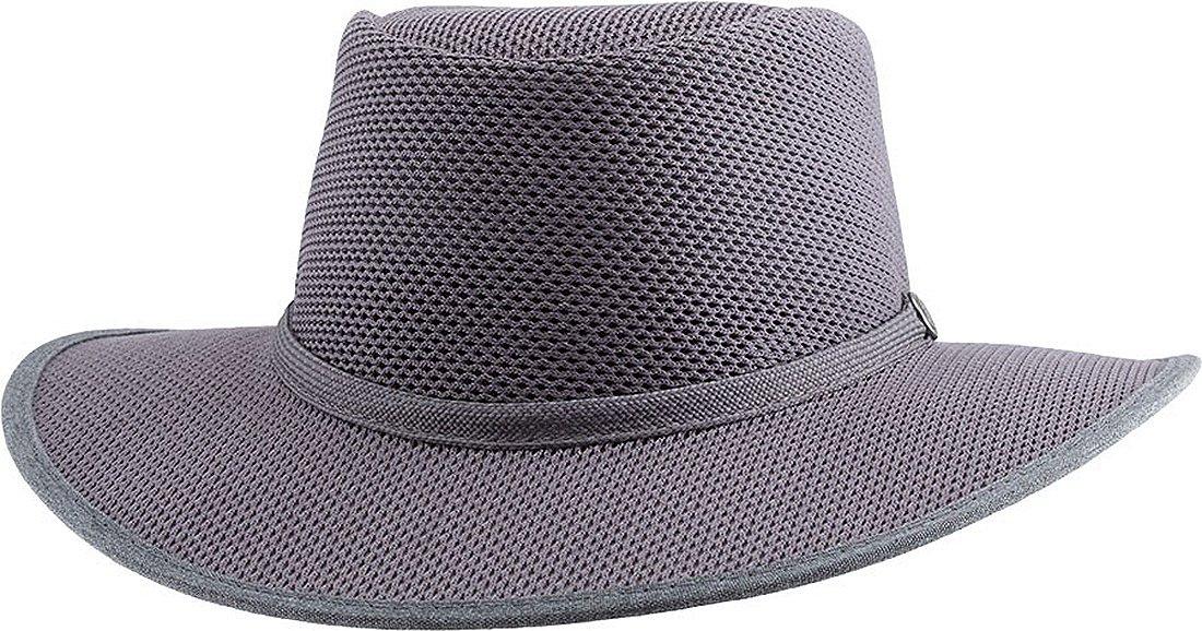 Head 'N Home Handmade Hats - SolAir Brand Cabana Steel (Gunsmoke) Breathable Mesh Sun Hat - Size Small
