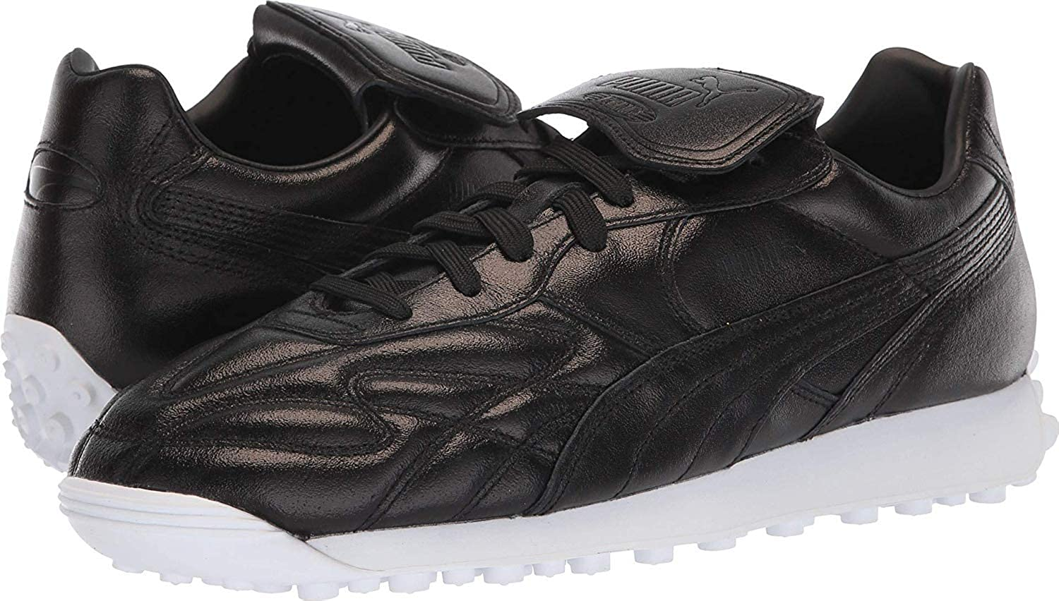PUMA King Avanti Trophy Mens Black Leather Lace Up Sneakers