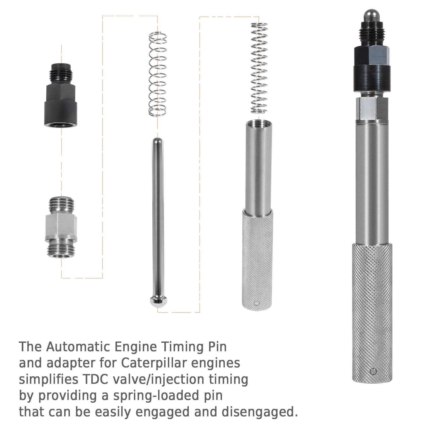 C-16 TDC Valve//Injection Timing Alt to J-42083 C12 C11 C-15 Automatic Engine Timing Pin with Adapter for Caterpillar CAT 3200 3300 C8 C-9 C10 3406 C-7 C13 3408