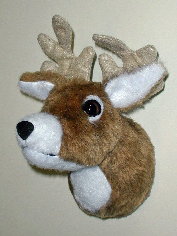 Plush Deer HeadJohnny Red Nose Tiny Plaque Mount