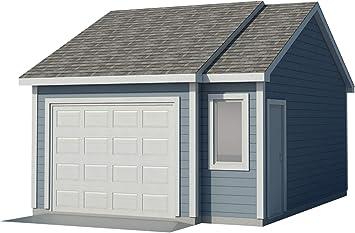 Planes de cochera para bricolaje en el patio o taller de cobertizo de 16 x 22 pies para construir tu propia: Amazon.es: Bricolaje y herramientas