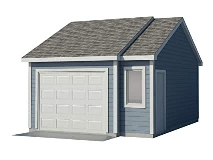 Build Your Own Garage >> Car Garage Plans Diy Backyard Workshop Shed Building 16 X 22 Build