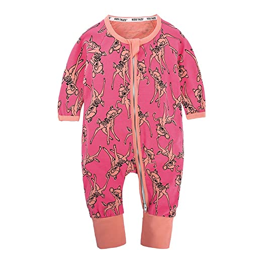 eb0701b2ad Kids Tales  quot Giraffe Baby Girl Girl Pajama Sleeper Cotton Long Sleeve  Romper