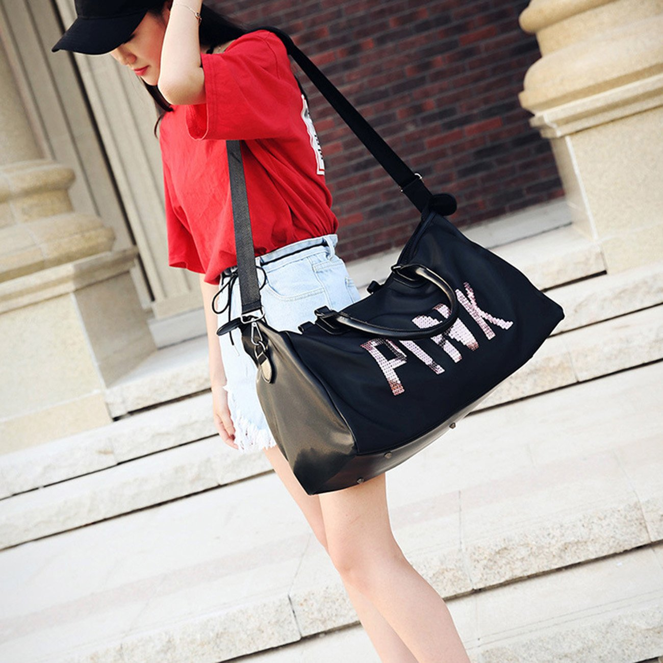 THEE High Capacity Waterproof Sports Bag Travel Tote Bag by THEE (Image #4)