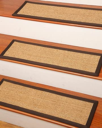 Attractive NaturalAreaRugs Montreal Sisal Carpet Stair Treads, 100% Natural Sisal,  9 Inch X