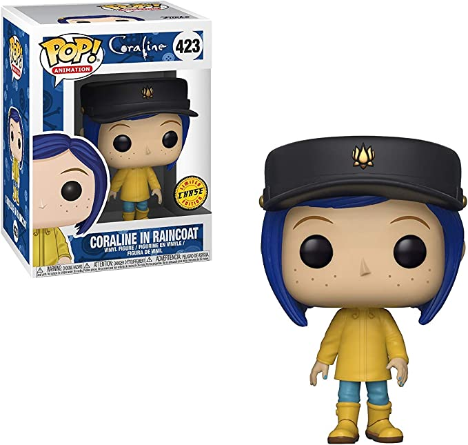Amazon Com Pop Movies Coraline Coraline In Raincoat Pop Vinyl Figure Chase Variant Toys Games