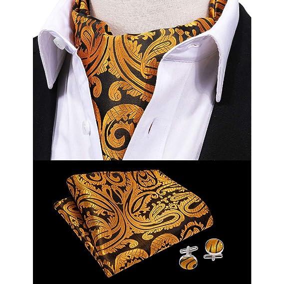 HYCZJH Pañuelo de Moda Cravat Set Silk Fashion Men Corbatas para ...