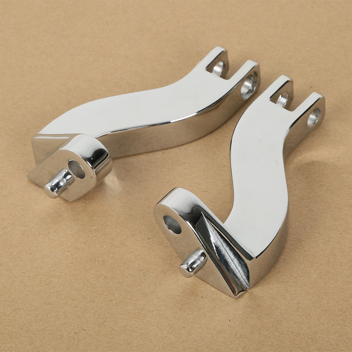 XMT-MOTO Passenger Footpeg Mount Bracket Kit for Harley Davidson FL Touring Models 1993-2016