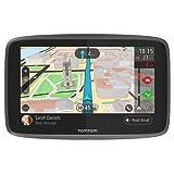 TomTom GO 6200 (6 Pouces) - GPS Auto - Cartographie Monde, Trafic, Zones de Danger à Vie (via Carte SIM Incluse) et Appel Mains-Libres