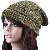 Ambielly Women hat Chunky Knit Beanie Winter Warm Hat Beanie Skull Cap for Women&Men