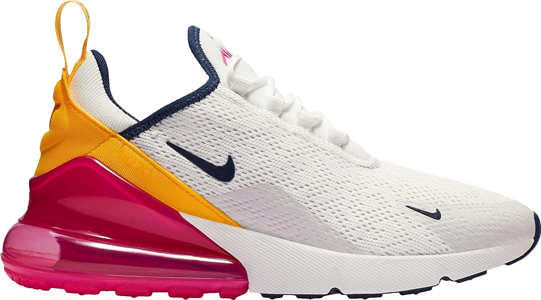 new concept 85516 0163b Amazon.com   Nike Air Max 270 Women s Shoes Summit White Midnight Navy Laser  Fuchsia ah6789-106   Fashion Sneakers