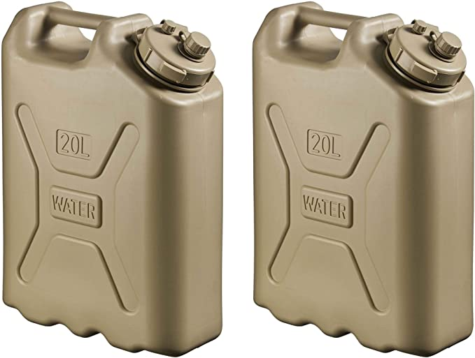 Scepter Lightweight BPA 5 Gallon 20 L Portable Water Storage Container 4 Pack