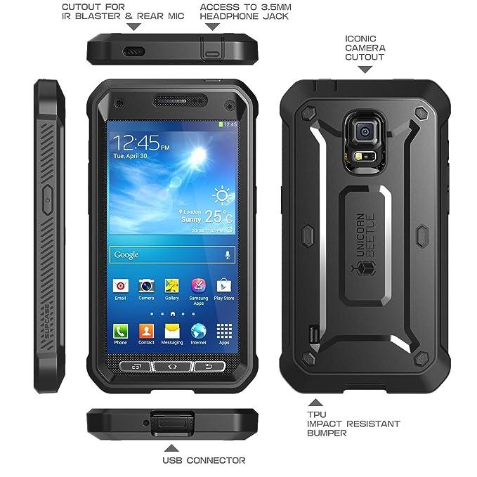 7f74008e002 Galaxy S5 Active Funda, SUPCASE Unicorn Beetle PRO Series- Proteccion  Completa con Protector de Pantalla- Negro/Negro: Amazon.com.mx: Electrónicos