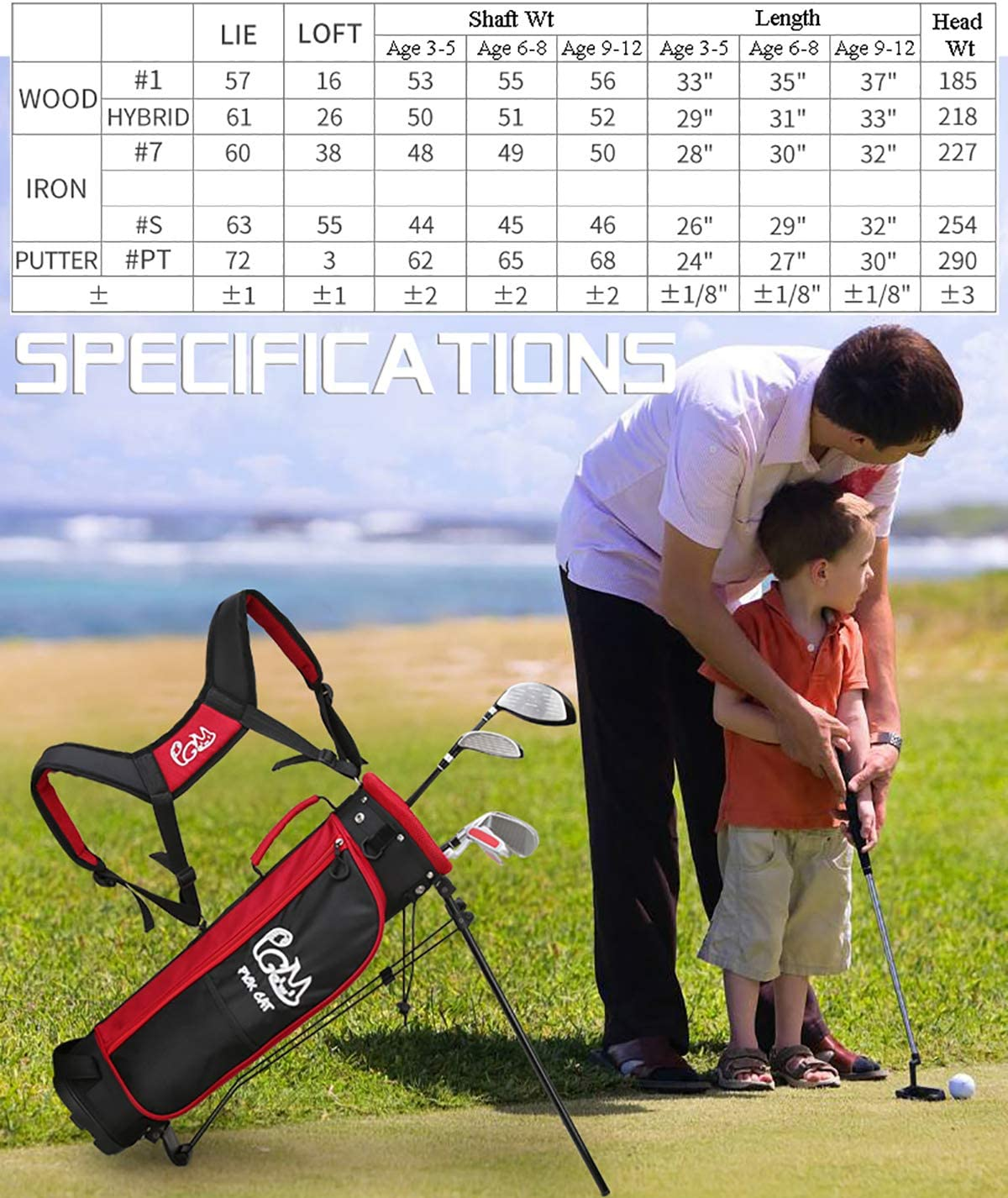 PGM Junior Golf Club Complete Set