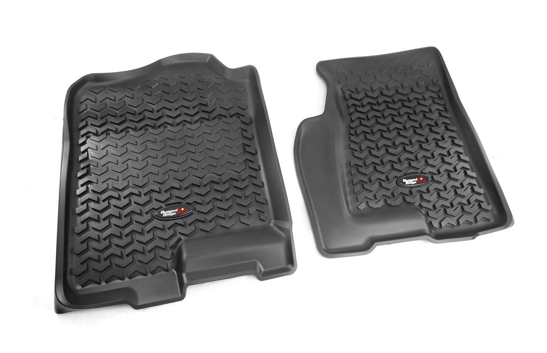 Weathertech floor mats 2012 gmc sierra -  Front And Rear Floor Liner Kit For Select Cadillac Escalade Chevrolet Avalanche Silverado Suburban Tahoe Gmc Sierra And Yukon Models Automotive