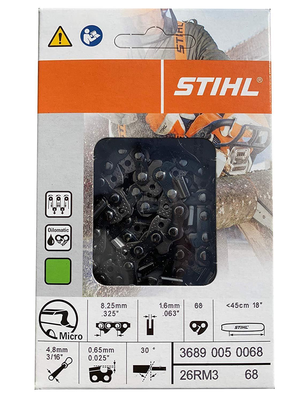 OEM Stihl  26RM3 68 68DL .063 Gauge 3689 005 0068 Chainsaw Chain .325 Pitch