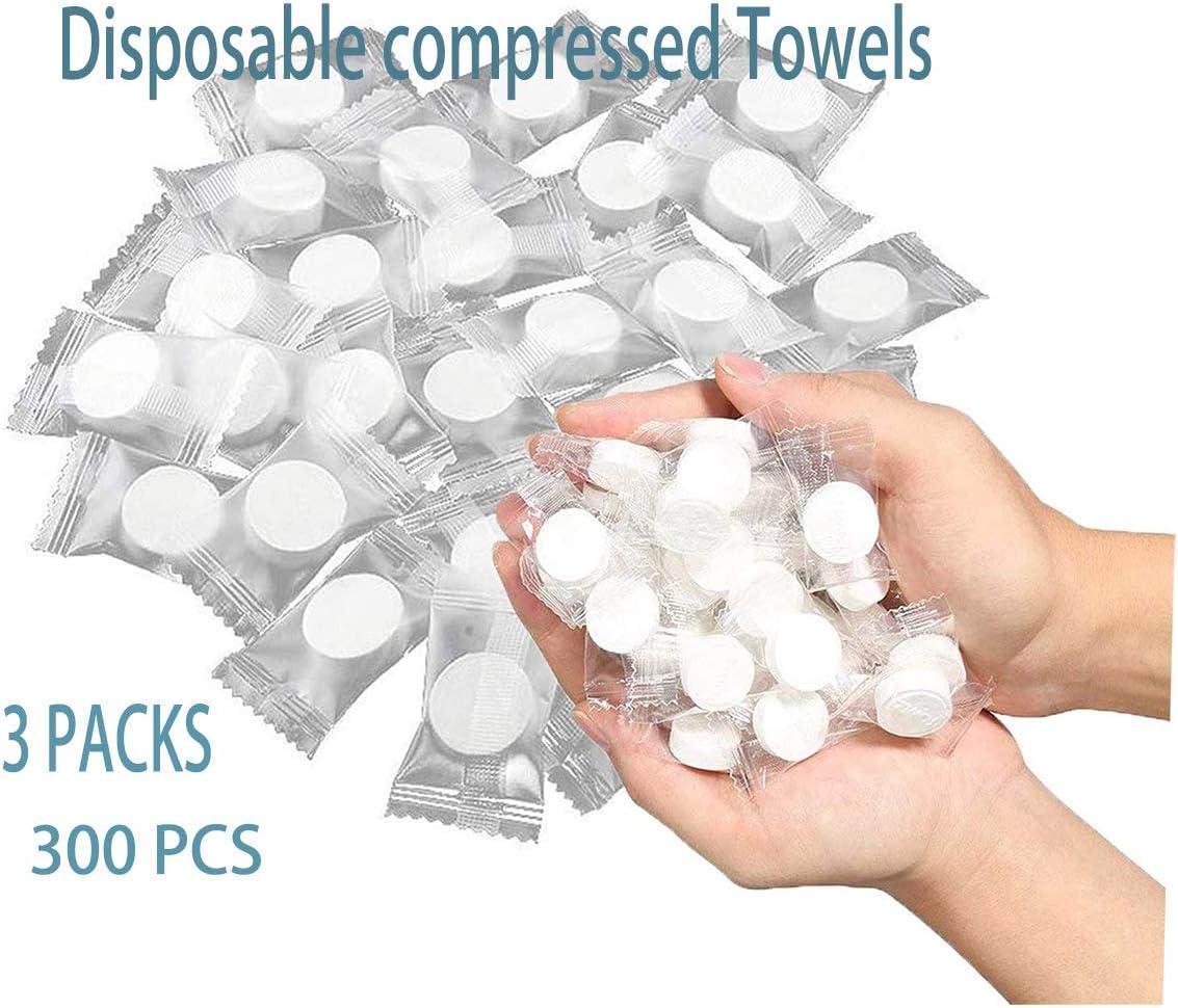300 piezas mini toallas comprimidas portátiles desechables de algodón comprimido para viajes, camping, senderismo, deporte, salón de belleza: Amazon.es: Hogar
