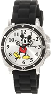 Disney Kids MK1080 Mickey Mouse Watch with Black Rubber Strap