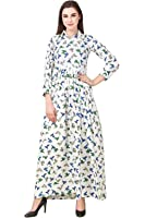 Skyward Enterprise Women's Printed and Crepe Fabric Gown