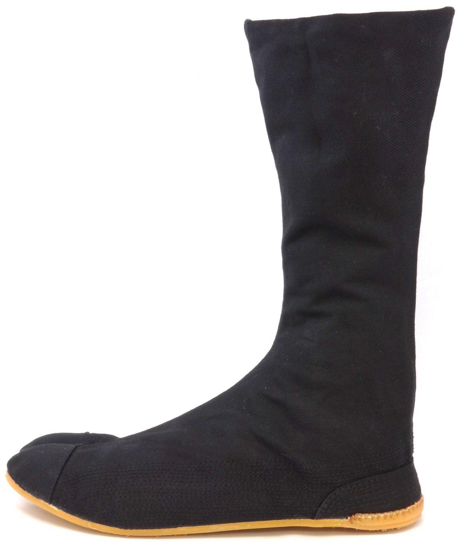 Ninja Shoes, Jikatabi, Rikkio Tabi Boots(US 5~12) Black / White!! +Travel bag (US 12 (30cm), Black) by Tabi Shoes (Image #2)