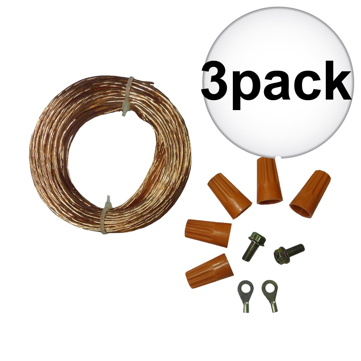 Woodstock W1053 Dust Collection System Grounding Kit 3-Pack