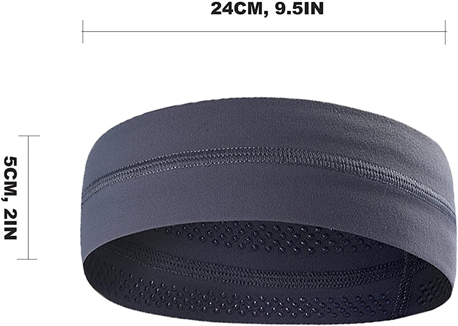 grey,black,navy 3PACK Lightweight Sport Headband//Non-slip Sweat Band Stretchy Bandana Headwear Fashion Elastic Hair Band for Women Men Teens Toddlers Girls Best for Running Cycling Hot Yoga and Athletic Workouts