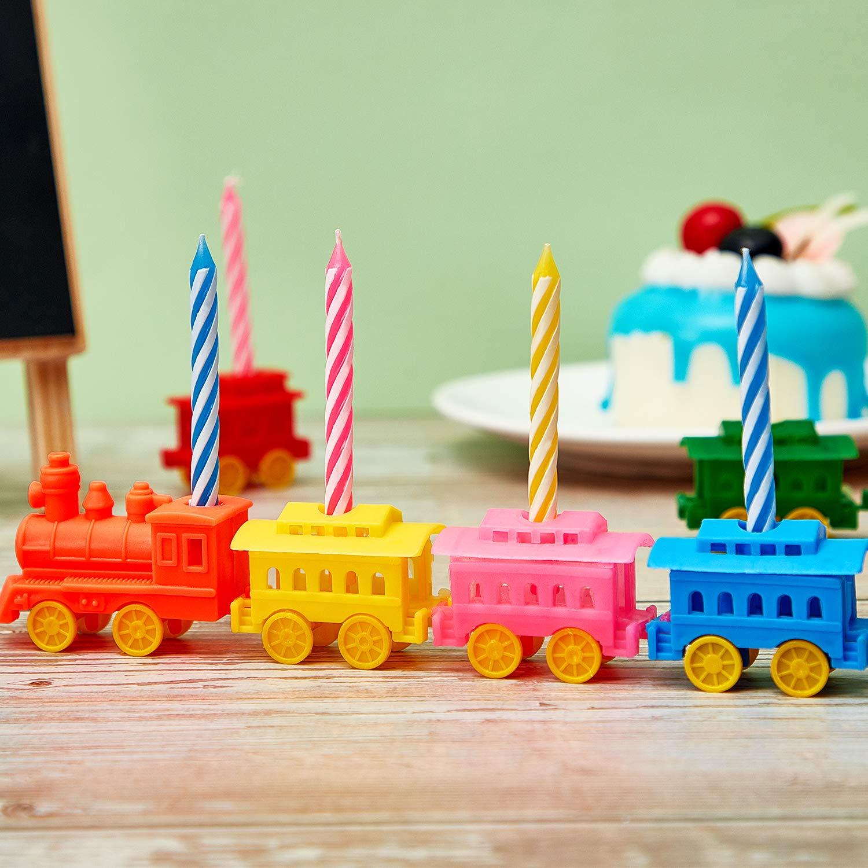 BBTO Candelabro de Tren Velas de Fiesta de Cumpleaños ...